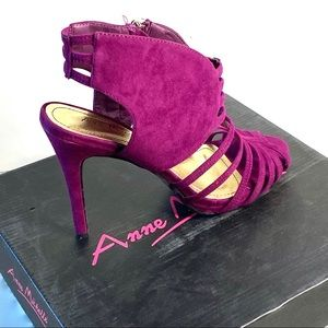 Anne Michelle purple hight hell shoes,size 6.5